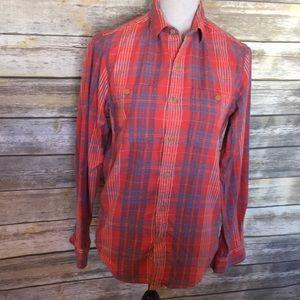 Men's J Crew Plaid Flannel Slim Fit Shirt, sz XS
